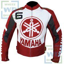 Moto Leather Biker Jacket Yamaha 6 Riding Red Motorbike Motorcycle Clothing