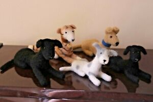 Needle Felted Greyhounds Whippets Handmade Free P+P