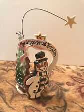 2002 Blue Sky Heather Goldminc The Gingerbread Kingdom Tealight Holder