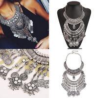 Damen Modeschmuck Halskette Tassel Anhänger Vintage Gothic Steampunk Collier