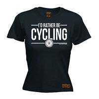 I'd Rather Be Cycling WOMENS RLTW T-SHIRT tee cycle cycling bicycle birthday