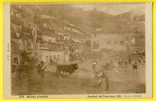cpa MUSÉE d'ARRAS COMBAT de TAUREAUX à la BISCAYE VIZCAYA de Gustave COLIN