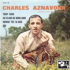 CHARLES AZNAVOUR Trop Tard Paul Mauriat FR Press Barclay 70 519 EP