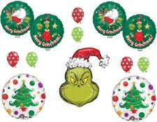 11 PC How the GRINCH stole CHRISTMAS Balloons Dr. SEUSS HOLIDAY FREE SHIPPING