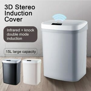 Automatic Trash Can Smart Sensor 15L Intelligent Induction Rubbish Bin Dustbin
