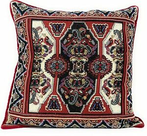 DaDa Bedding Majestic Red Kilim Persian Rug Ornate Tapestry Throw Pillow Cover