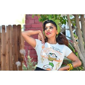 Miss Ladybug Life Is Good Road T-Shirt Rockabilly Pinup 50s Caravan S - 2XL