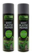 2 X Autotek Professional Grey Plastic Primer 500ml