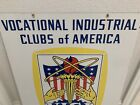 VICA Vocational Industrial Clubs Of America Dbl Sided Porcelain Advertising Sign