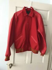 Men's Red Varsity Letter Jacket