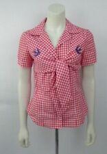 Alexander McQueen MCQ Size 42 IT UK 10 Checkered Tie Shirt Blouse Top