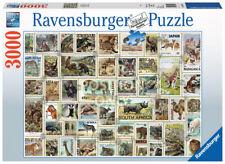 RAVENSBURGER PUZZLE*3000 TEILE*ANIMAL STAMPS*TIERBRIEFMARKEN*RARITÄT*NEU+OVP