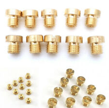 10Pcs 6mm M6 Metal Main Jet Kit 98-130 for Motorcycle Carburetor Injector Nozzle