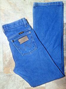 Wrangler Cowboy Western High Waist Mom Vintage Blue Jean 27x29.5 USA? Made