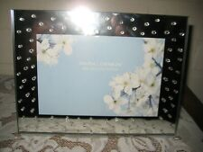 """SWING DESIGN Celestial Picture Frame 7 3/4"""" W x 5 3/4"""" H Crystals Mirror Glass"""