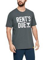 Under Armour Men's SZ M USDNA Project Rock Rents Due S/S T-shirt Gray 1345812