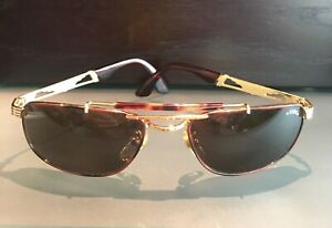 STING POLICE AVIATOR SUNGLASSES W/CASE VINTAGE 1990'S- MADE IN ITALY-GENTLY USED