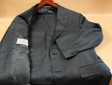 #56 CANALI  Gray Pinstriped Two Button Suit Size 44 R MSRP$1,895