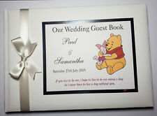 WINNIE THE POOH PERSONALISED WEDDING GUEST BOOK  - ANY DESIGN
