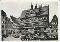 """Ansichtskarte Tübingen """"Marktplatz mit Rathaus und Brunnen"""" - schwarz/weiß"""