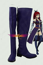 Fairy Tail Erza Scarlet cosplay costume Boots Boot Shoes Shoe