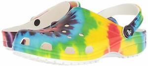 Crocs Classic Tie Dye Graphic Clog, Multi, Size 10.0