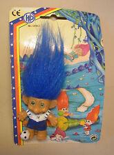 Knolli Zwerg Gnom Troll Blaue Haare Figur Zaubertroll mit Verpackung OVP