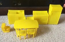 Plastic Yellow Kitchen Furniture For Doll House