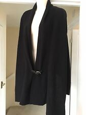 All Saints Ellil wool cashmere mix Leather Buckle Cardigan Uk 8 also fit 10