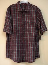 Sean John Men's Plaid Black Short Sleeve Shirt Size 3XL