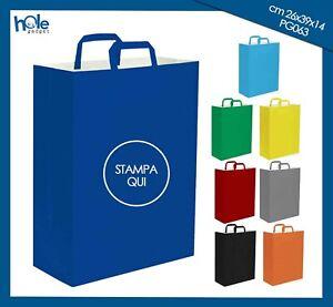 Shopper Buste di Carta Personalizzate con Logo Sacchetti Manici Shoppers 8