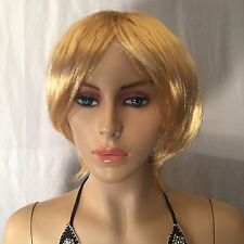 New Women's Fashion Short Straight Blonde Gold Wig Without Tags
