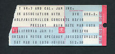 1978 California Jam II concert ticket stub Heart Santana Aerosmith Ted Nugent