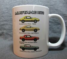 1979 Mustang Line Coffee Cup, Mug - New - Classic Ford - Factory Colors