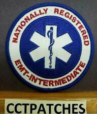 NATIONALLY REGISTERED EMT INTERMEDIATE EMS EMT PATCH