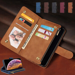 New Luxury Leather Zipper Flip Wallet Case Cover for Xiaomi POCO M2 M3 X3 NFC