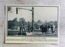1915 Railway Station Water Welcomed By Men And Horses