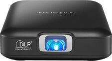 Insignia NS-PR60 Slim-line Pico WVGA DLP Projector Built in Battery - Black
