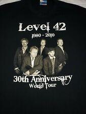 Level 42 band 1980-2010 30th Anniversary Tour Black T-Shirt Men's Size XL