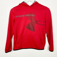 boys UNDER ARMOUR red HOODIE size YLG large