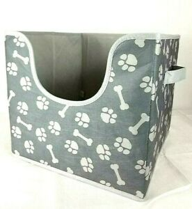 Top Paw Pet Folding Toy Box Storage Cube Collapsible for Dogs Cats Crafts