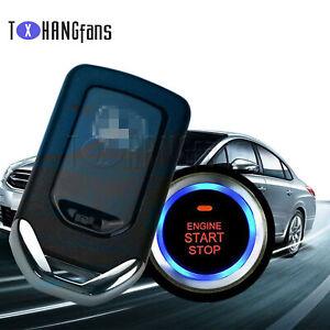 Car Auto Alarm Security System Key Start Keyless Entry Push Remote Kit ATF