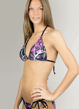 Muddy Girl Camo Bikini Swimsuit Top & Bottom | Pink Purple & Black Swimwear