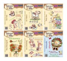 Popcorn The Orso Orsetto Gomma Bollo Smontato Reddy Cards Crafters Companion