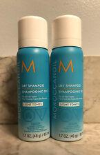 2 X MOROCCAN OIL Dry Shampoo LIGHT TONES Travel Size 1.7oz / 65ml