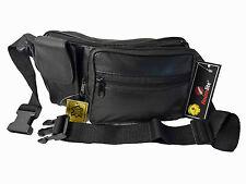 Leather Bumbag Soft Leather Plain Black Money Belt Travel Holiday Bumbags R142