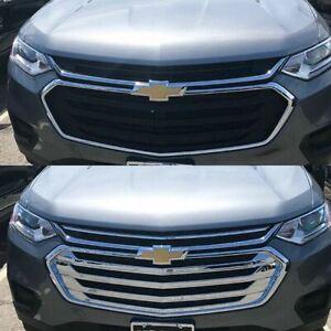 Black Horse 2018-2019 Chevrolet Traverse Overlay Grille Trims Chrome