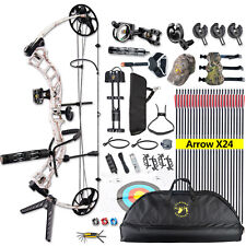 "Usa Trigon-Snow-Camo Compound Bow Package Bcy String 19""-30"" 19-70Lb Ibo 320fps"