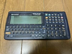 SHARP Pocket computer PC G850V Function Calculator Tested Examined Japan USED