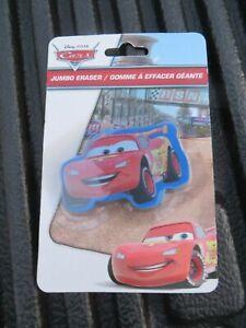 Disney Lightning Mcqueen Cars Jumbo Erasers  New In Package